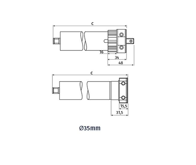 motor tub35 medidas