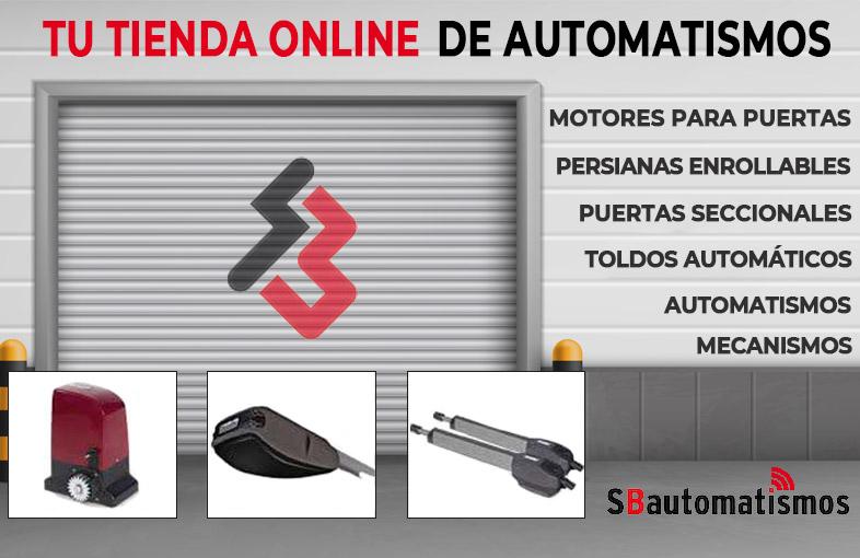 Banner tienda online automatismos y motores de puertas automáticas
