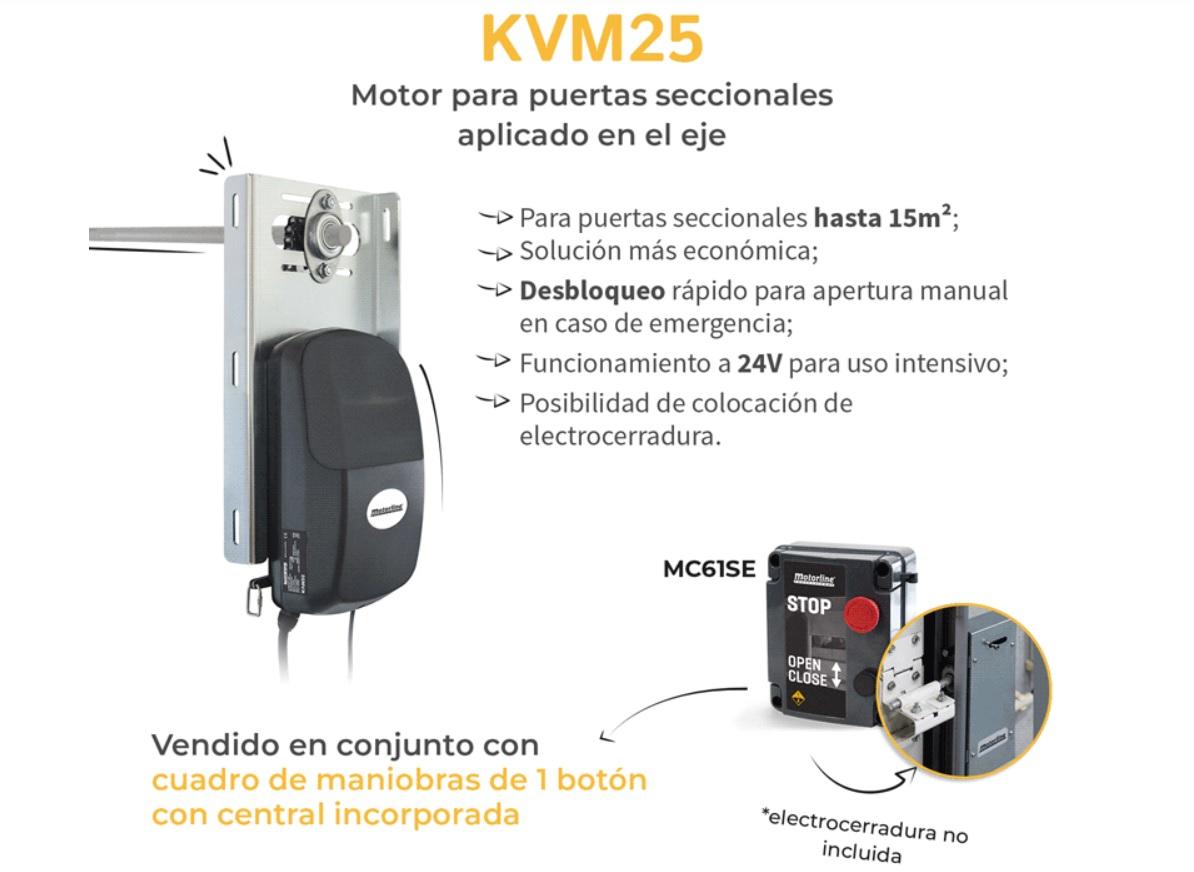 Motor de puerta seccional KVM25