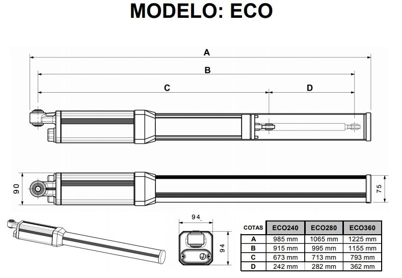 Dibujo técnico BAC280 Medva